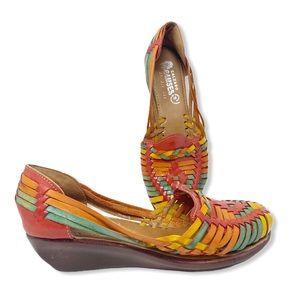 Calzado Ramses Huarache Shoes Leather Wedge 9.5